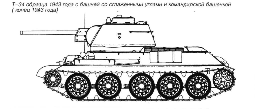 Т-34 образца 1943г с башней со